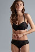 Marlies Dekkers Brazilian Brief | black & gold dot